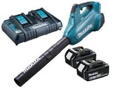 Makita Blower c/w Batteries and Charger